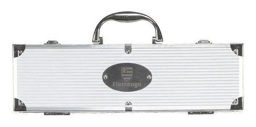 kit churrasco flamengo escudo 4 peças