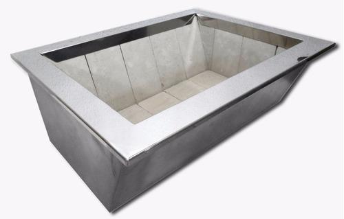 kit churrasqueira 2 - kitgrill 80cm + braseiro 80cm + brinde