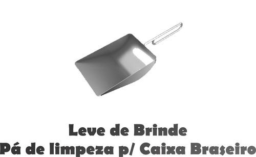kit churrasqueira 22 - coifa 100cm +grillelev+ braseiro 80cm