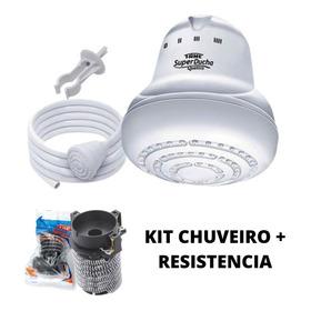Kit Chuveiro Super Ducha Fame 4 Temperaturas + Resistência