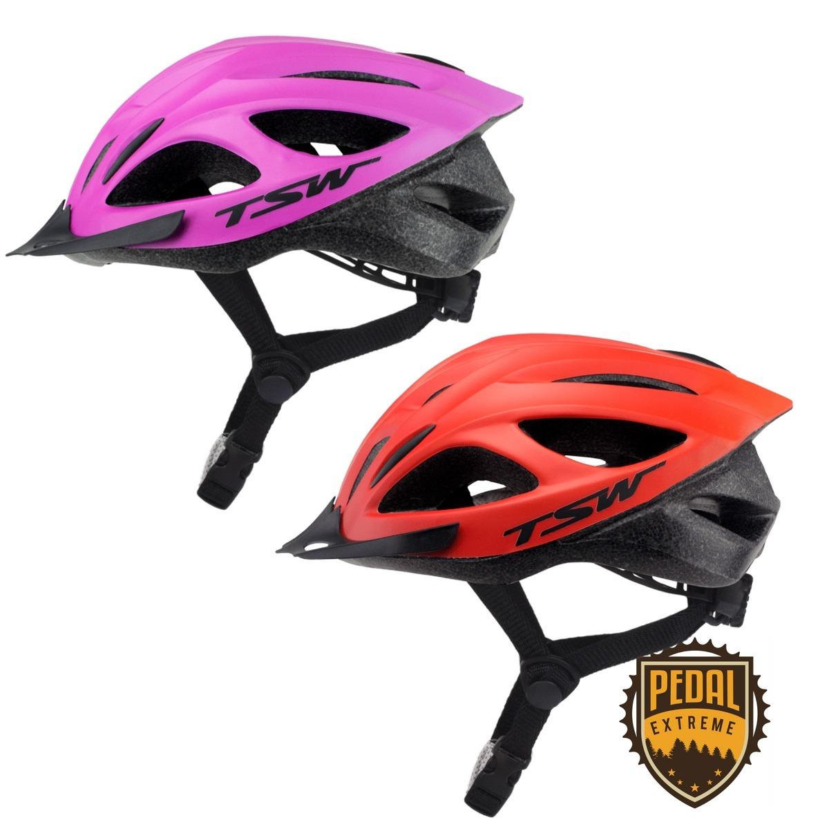 0c8e49449 kit ciclismo dois capacete ciclista bicicleta com led tsw 1. Carregando  zoom.