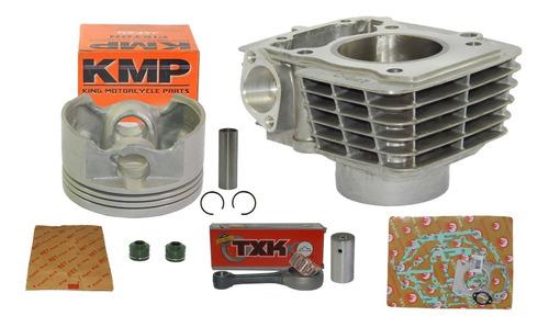 kit cilindro 170cc 4mm cg titan fan 150 pistão kmp biela txk