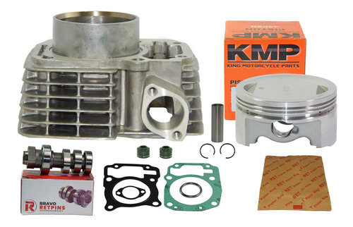 kit cilindro 190  cg 150 fan bros kmp comando 315° preparado