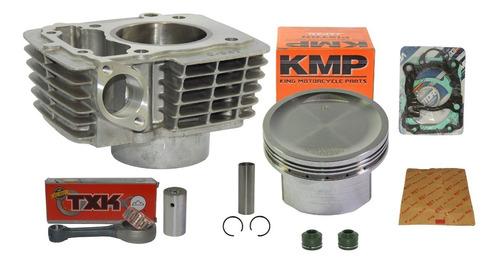 kit cilindro 190cc cg 150 pistão kmp + biela txk