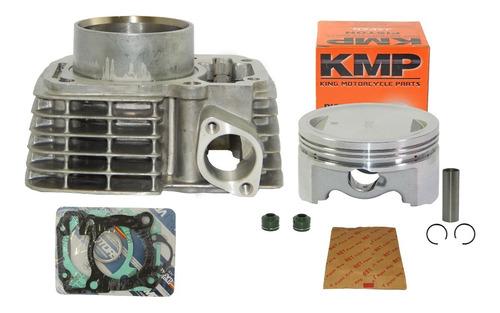 kit cilindro 190cc cg titan fan bros 150 pistão kmp 64,50