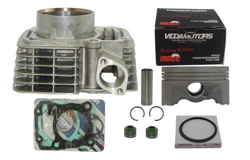 kit cilindro 190cc cg titan fan bros 150 pistão vedamotors