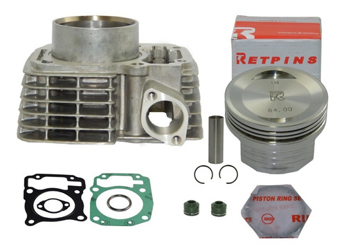 kit cilindro 190cc taxado cg titan fan bros 150