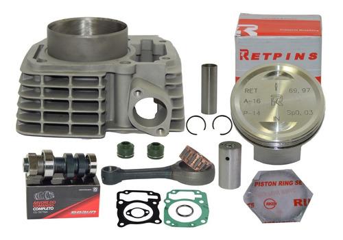 kit cilindro aumento potência cg 150 p 230cc comando biela