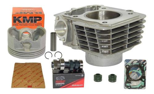 kit cilindro cg 150 para 170cc 4mm pistão kmp + comando 315º