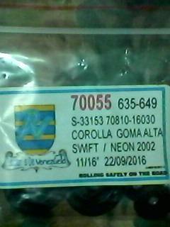 kit cilindro d freno toyota corolla11/16goma alta(codigo649)