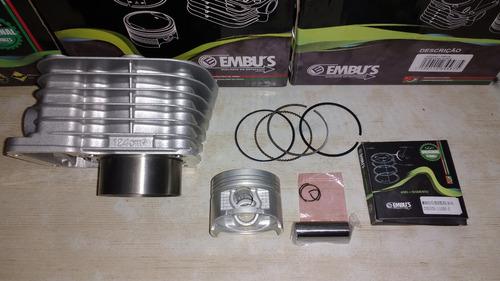 kit cilindro do motor pistão anéis cg 125 today titan até 99