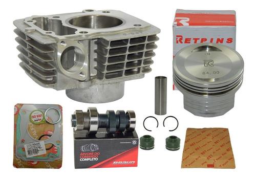 kit cilindro fan 125 aumento potência 190cc 2009/ 16 comando