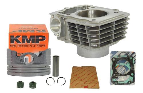kit cilindro fan bros titan cg 150 3mm 165cc pistão kmp