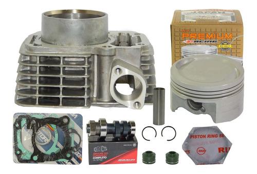 kit cilindro fan bros titan cg 150 kmp premium 4mm + comando