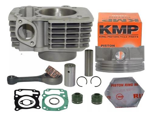 kit cilindro forjado 220cc cg 150 kmp 70mm + biela