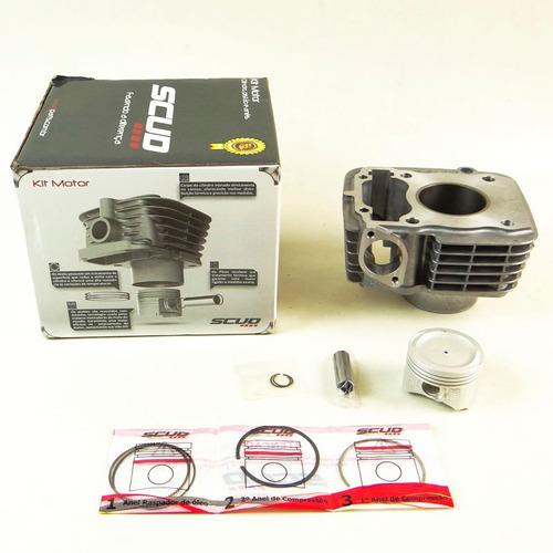 kit cilindro motor + pistão + anel titan 91 até 2001 (scud)