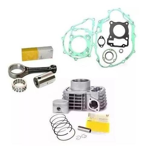 kit cilindro pistão anéis biela juntas cg titan 150 fan bros