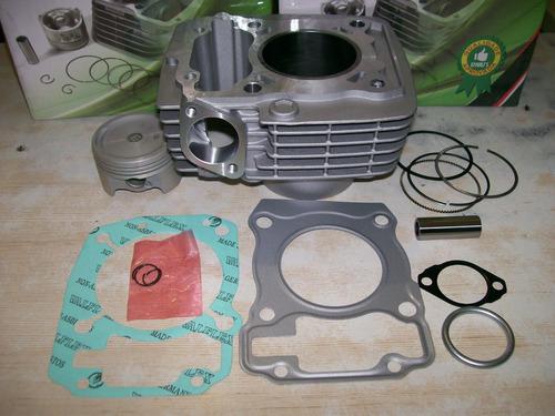 kit cilindro pistão anéis juntas cg titan 150 fan bros mix