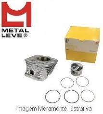kit cilindro pistão anéis metal leve cg 125 bolinha 77 à 91