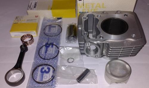 kit cilindro pistão titan fan nxr bros150 + biela metal leve