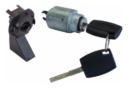 kit cilindro + suporte fechadura capô ford focus 09 a 13