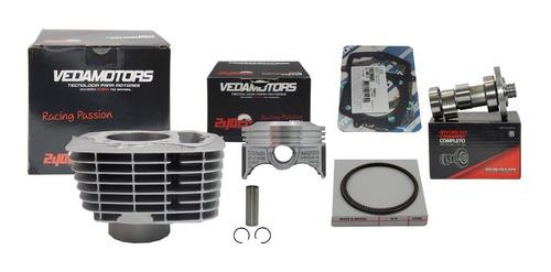 kit cilindro vedamotors crf230 p/ 240 + comando 320° taxado