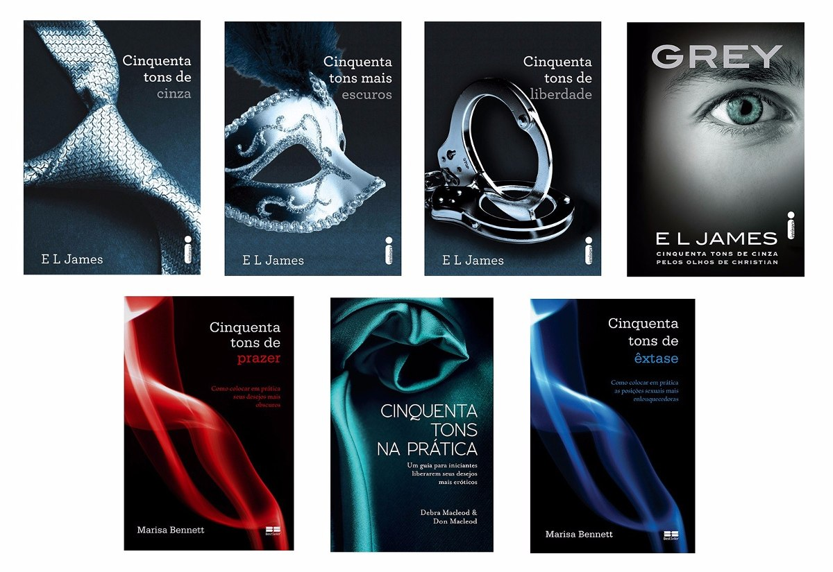 Kit Cinquenta Tons De Cinza + Grey + Guias (7 Livros