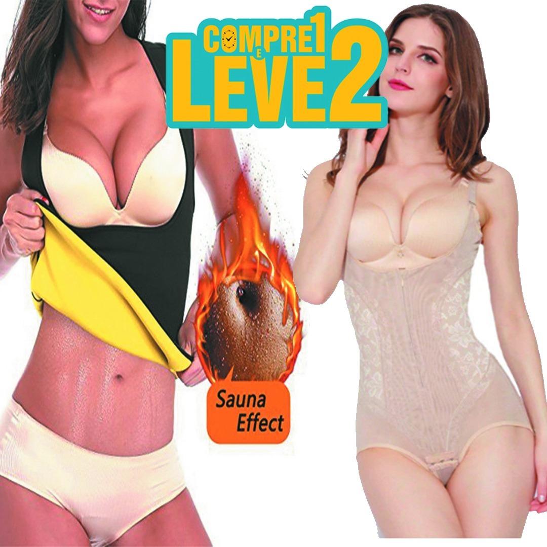 Kit Cinta Hot Shapers + Cinta Corselet Modeladora Pós Parto - R  130 ... a0286f045b1ca