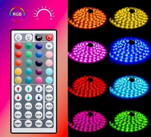 kit cinta led 5050 rgb 5mts multicolor adaptador y control