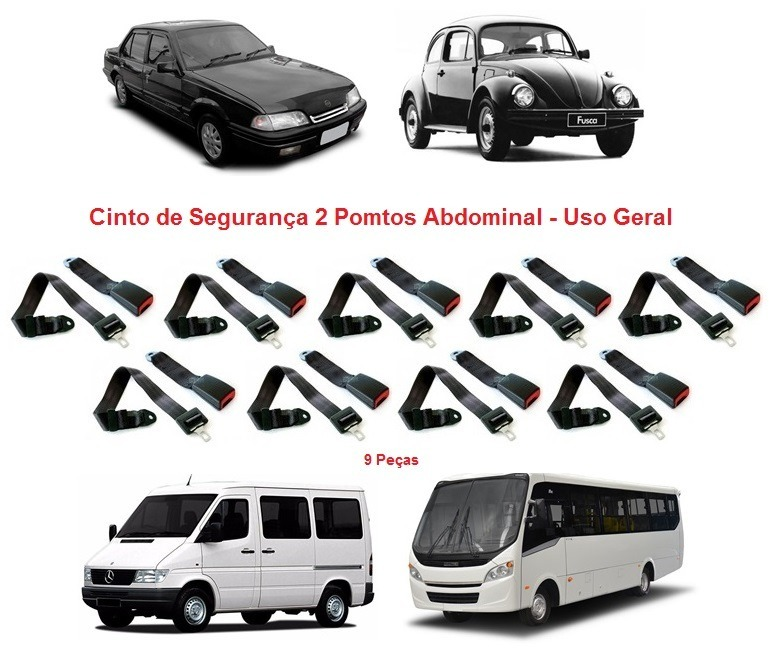 Kit Cinto De Segurança 2 Pontos Abdominal Uso Geral 9 Peças - R  220,00 em  Mercado Livre 10ae6f84b7