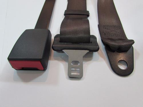 kit cinto de segurança original p/ fusca - marrom - 5 peças