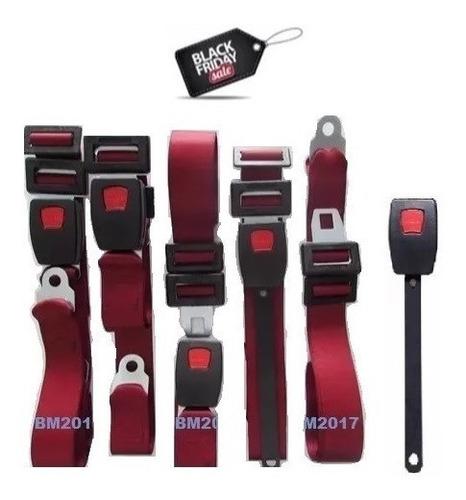 kit cinto de segurança p/ fusca - vermelho - 5 peças