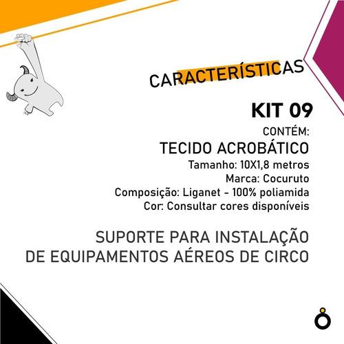 kit circo 9 | suporte para equipamentos aéreos + tecido 10m