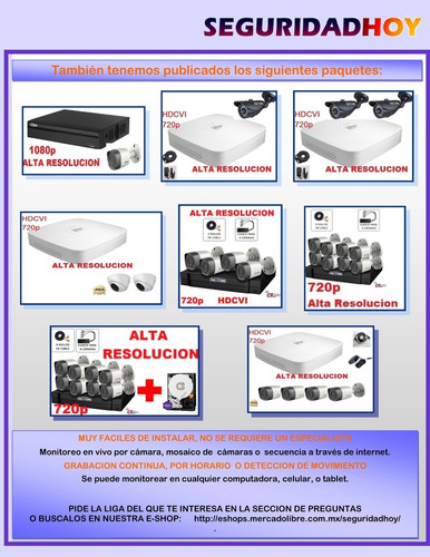 kit circuito cerrado 4 camaras 2mp metalicas dvr 1080n alertas celular  p2p  h265+