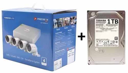 kit circuito cerrado 4 cámaras hd 720p cctv disco duro 1 tb