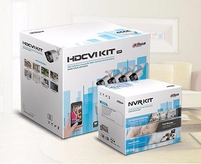 kit circuito cerrado 4 cámaras hd dahua hd 720p 500 gb
