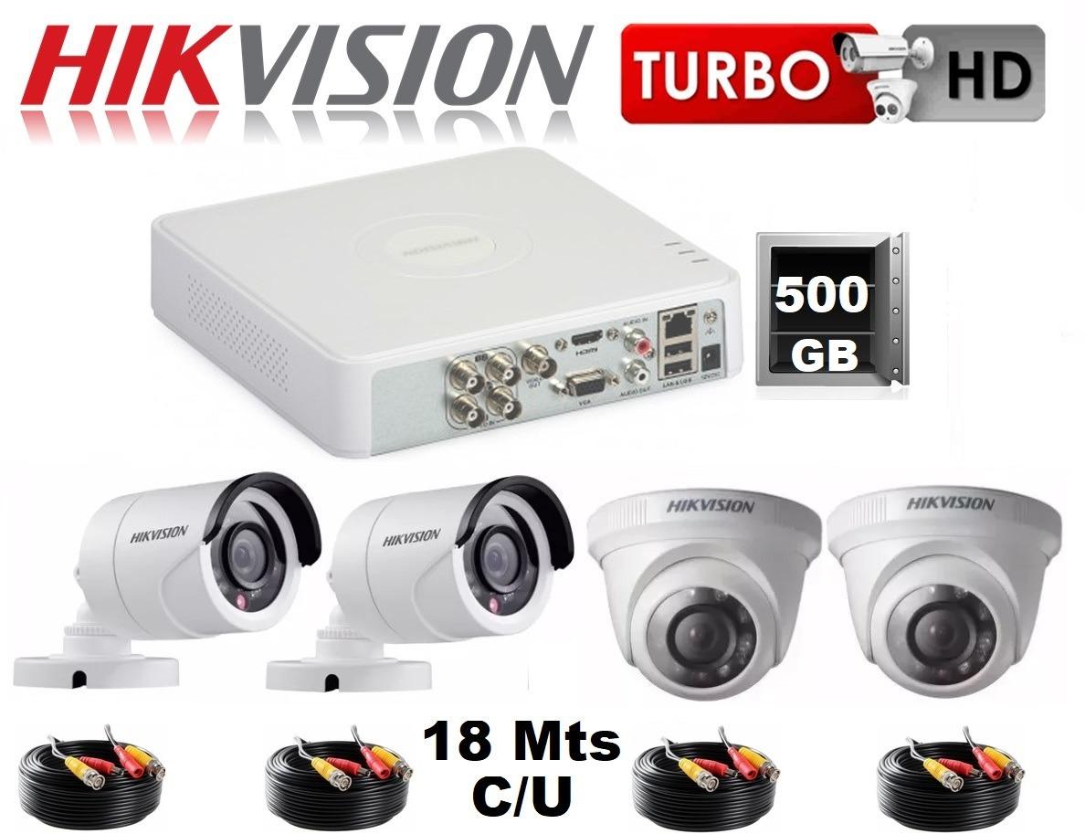 Circuito Cerrado : Kit circuito cerrado hikvision cámaras hd p cctv g
