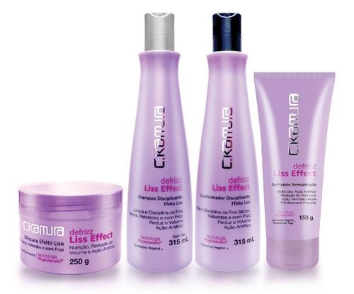 kit c.kamura defrizz liss efect cabelos rebeldes e com frizz