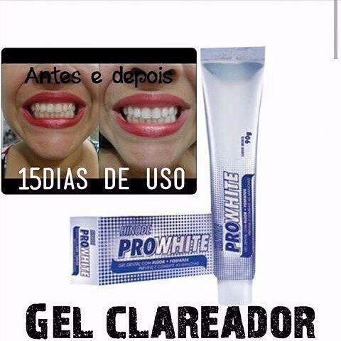 Kit Clareador Bucal Pro White Antisseptico Gel Dental R 18 00