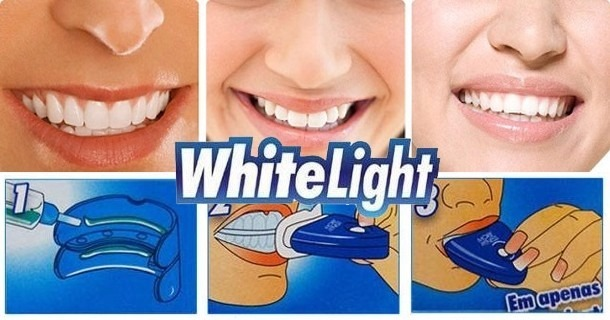 Kit Clareador Dental White Light Moldeira De Clareamento R 55