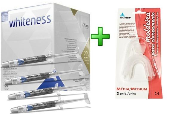 Kit Clareador Dental Whiteness Fgm 22 4 Gel Moldeira R 84 90
