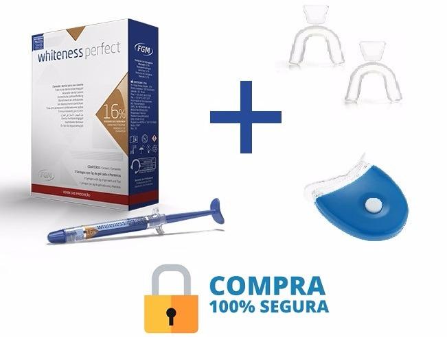 Kit Clareador Dental Whiteness Perfect 16 Frete Gratis R 120