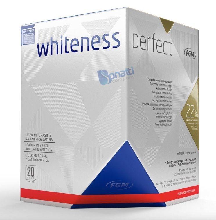 Kit Clareador Dental Whiteness Perfect 22 Par De Moldeira R