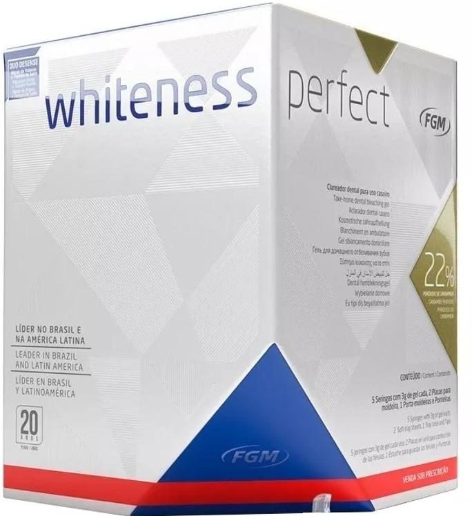 Kit Clareamento Caseiro Whiteness Perfect 22 Moldeiras R 125