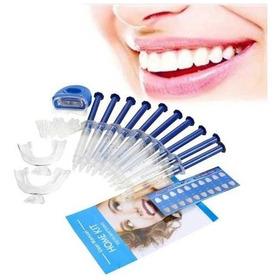 Kit Clareamento Dental 44% + Led + Moldeira + 10 Seringas