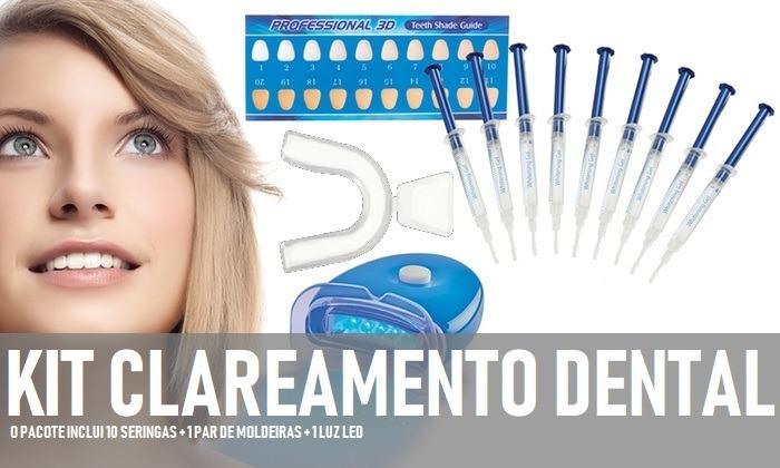 Kit Clareamento Dental 44 10 Seringas Moldeiras Led Eua R 82