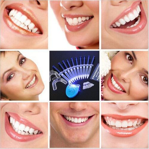 kit clareamento dental 44% clareador- 10s o+completo c/molde