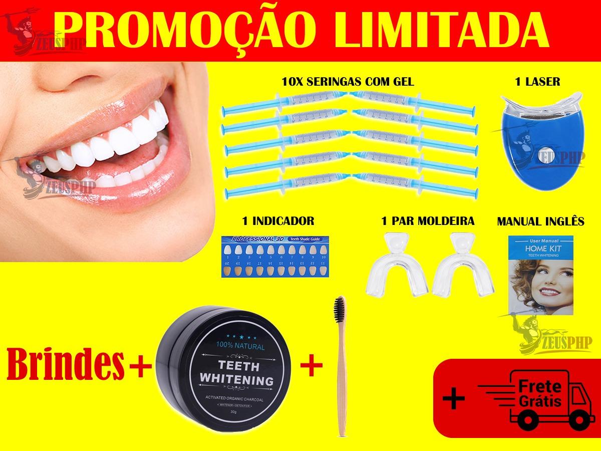 Kit Clareamento Dental Com 10 Refis 44 Completo Brinde R 120