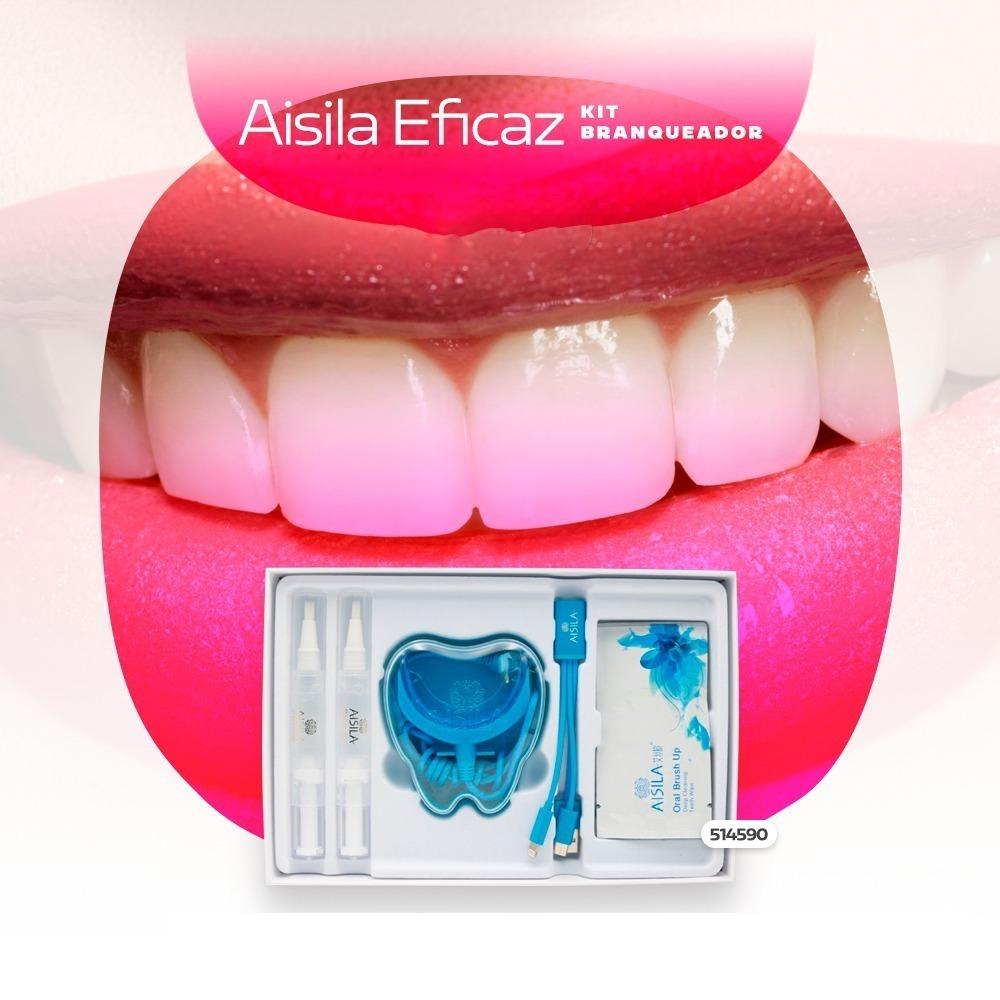 Kit Clareamento Dental Luz Fria Gel Clareador Usb Aisila R 138 89