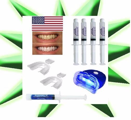 Kit Clareamento Dental Usa Gel 22 Clareador 4seringas Remin R